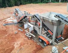 Constmach 100 tph CAPACITY MOBILE VSI CRUSHING PLANT