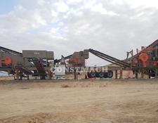 Constmach DOUBLE CHASSIS, 120 tph CAPACITY, MOBILE JAW and IMPACT CRUSHER