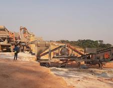 Constmach 150 tph CAPACITY MOBILE JAW + CONE + VSI CRUSHING PLANT